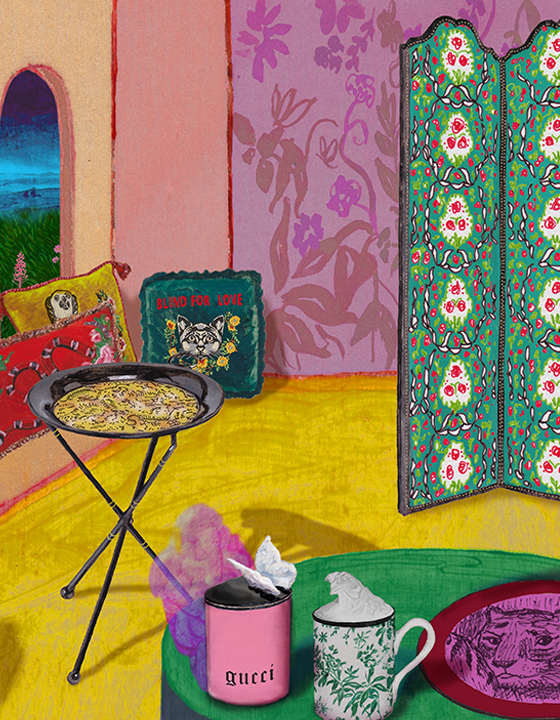 Gucci Decor Illustration by Alex Merry
