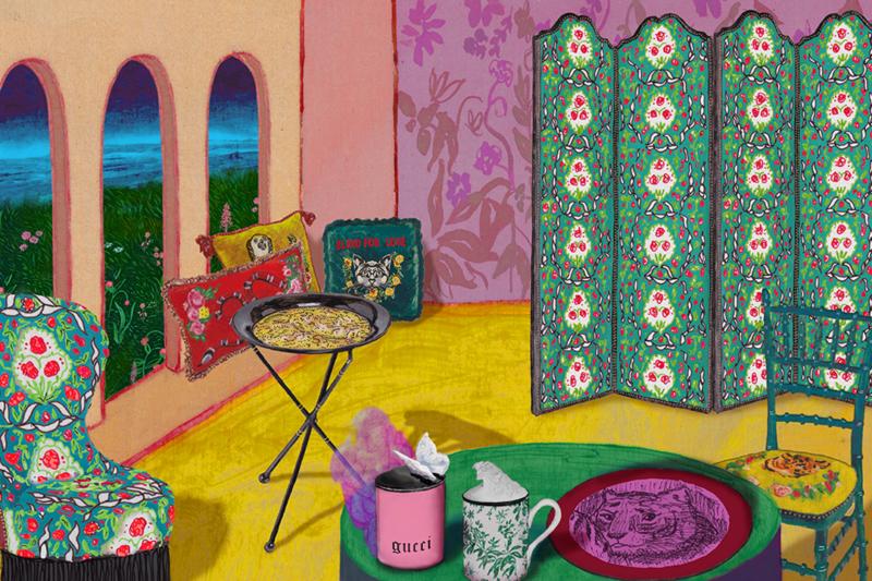 Gucci Decor Illustration by Alex Merry